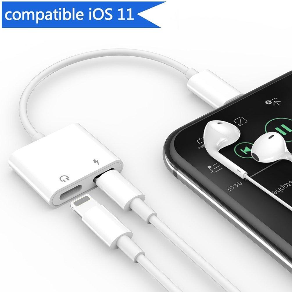d785751bced 4 in1-charging y audio y llamadas y control de volumen: Este iPhone  x/8/8plus 7/7plus Dual Adaptador Lightning auricular es muy fuerte y  duradera.