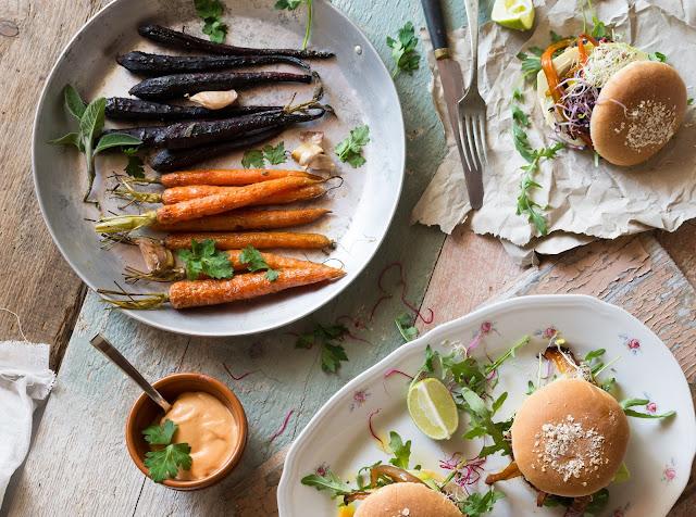 burger vegetariani alla barbabietola