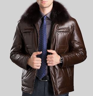 Gambar Jaket Kulit Bulu untuk Pria