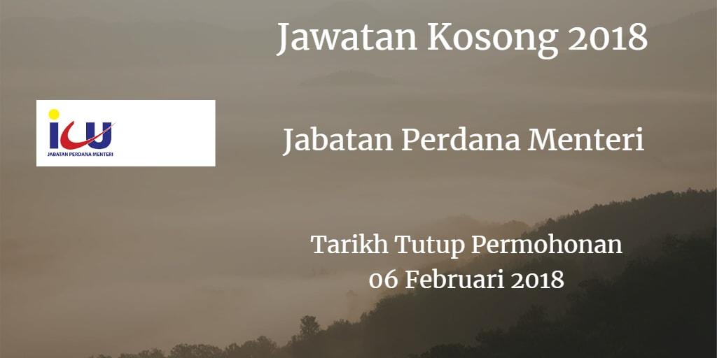 Jawatan Kosong Jabatan Perdana Menteri Jawatan Kosong ICU JPM 06 Februari 2018