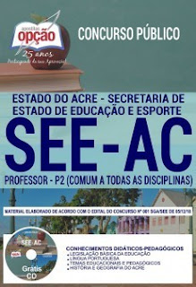 Download Apostila Concurso SEE AC 2019 PDF