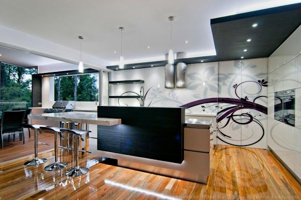 Desain Dapur Modern Elegant Unik 01