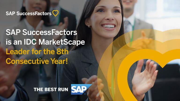 SAP SucessFactors is IDC MarketScape Leader for 8 Years in a Row