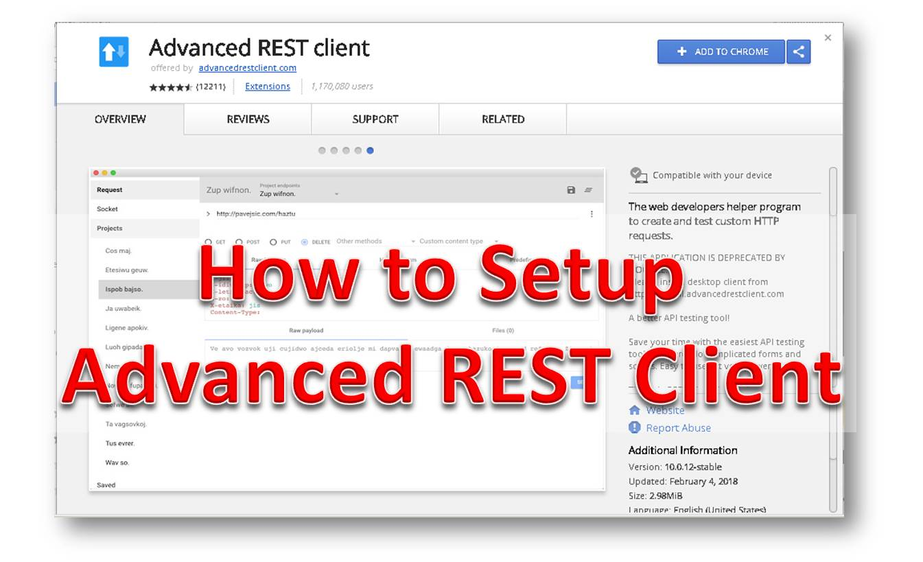 RESTful Web Services Tutorial 2 - Setting up a REST Client - The