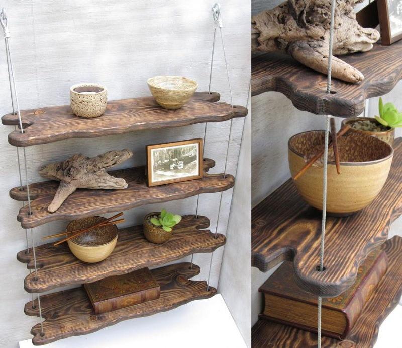 Gambar driftwood untuk bahan baku rak