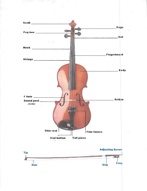 Violine Aufbau
