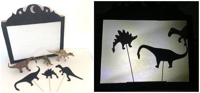 actividad infantil teatro sombras dinosaurios