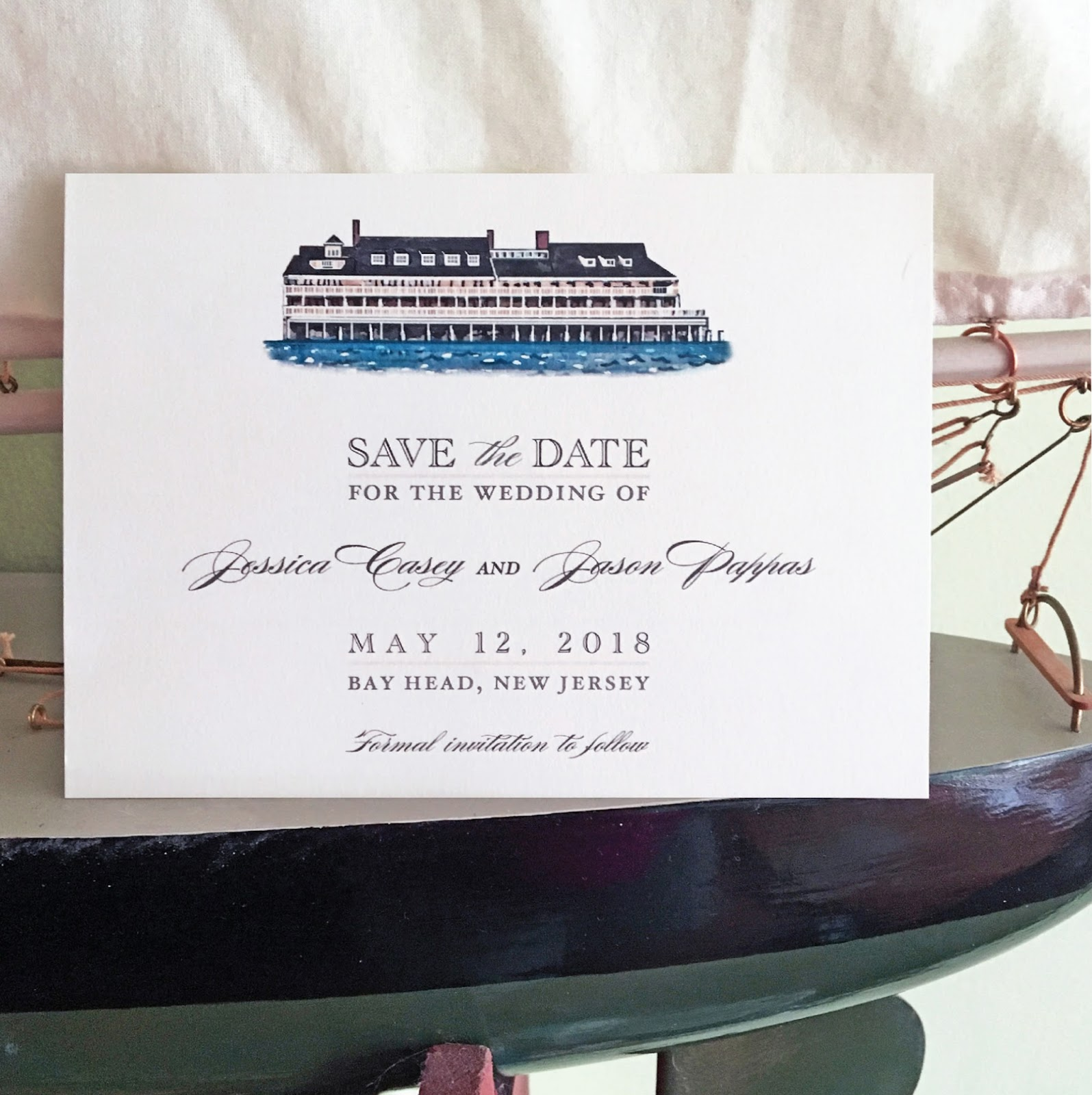 Invitations, Ink, Social Design Studio: Bay Head Yacht Club Save the ...