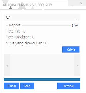 Tampilan Scanner Aurora FD Security v2 - Catatan Nizwar ID