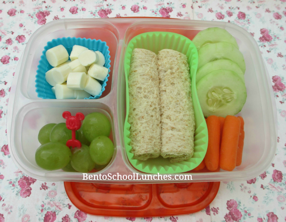 Bread roll-ups, easy and quick bento school lunch