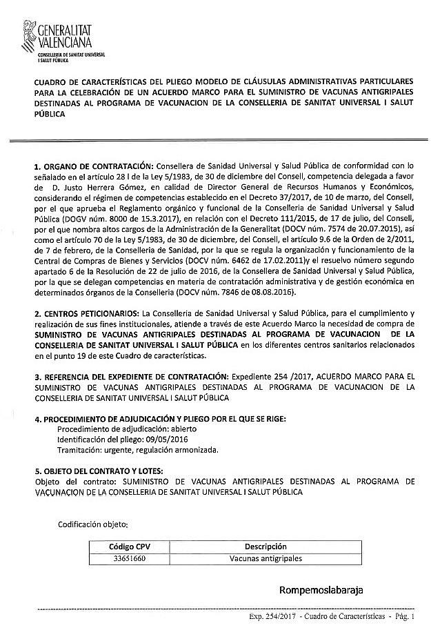 ACUERDO MARCO : SUMINISTRO DE VACUNAS ANTIGRIPALES , VALOR ESTIMADO ...