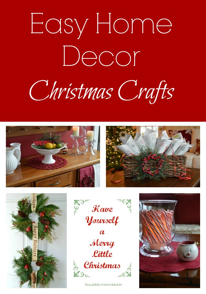 easy home decor christmas crafts