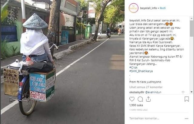 Demi Sang Adik, Siswi SMK Asal Karang Anyar Rela Berjualan Cilok, Kisahnya Viral
