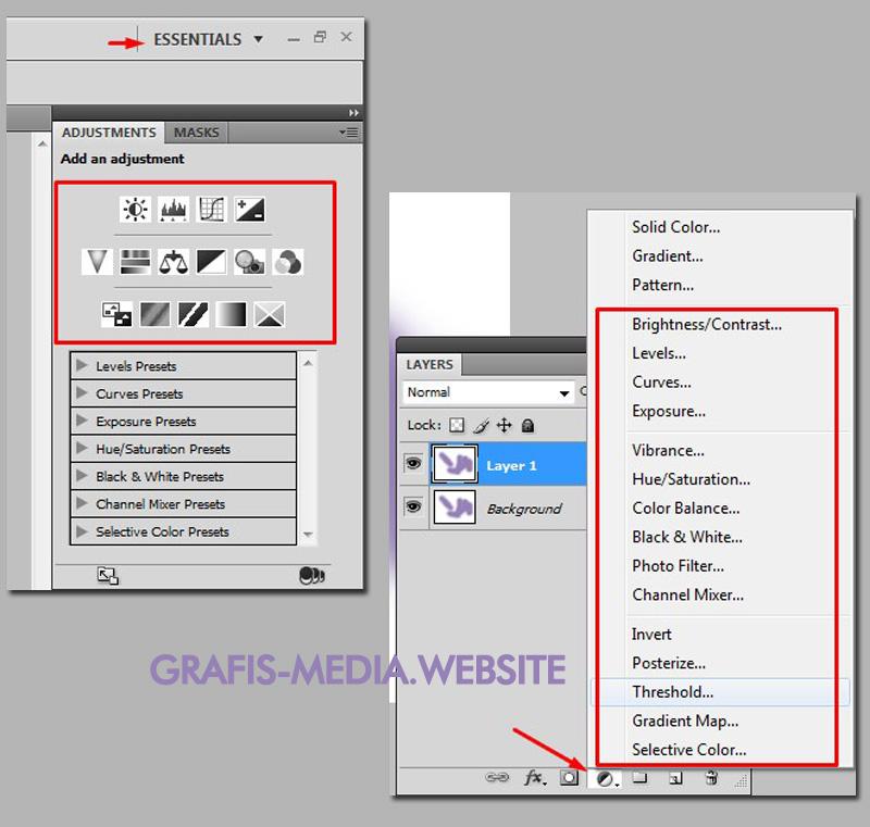 Fungsi Dan Cara Menggunakan Layer Photoshop - GRAFIS - MEDIA
