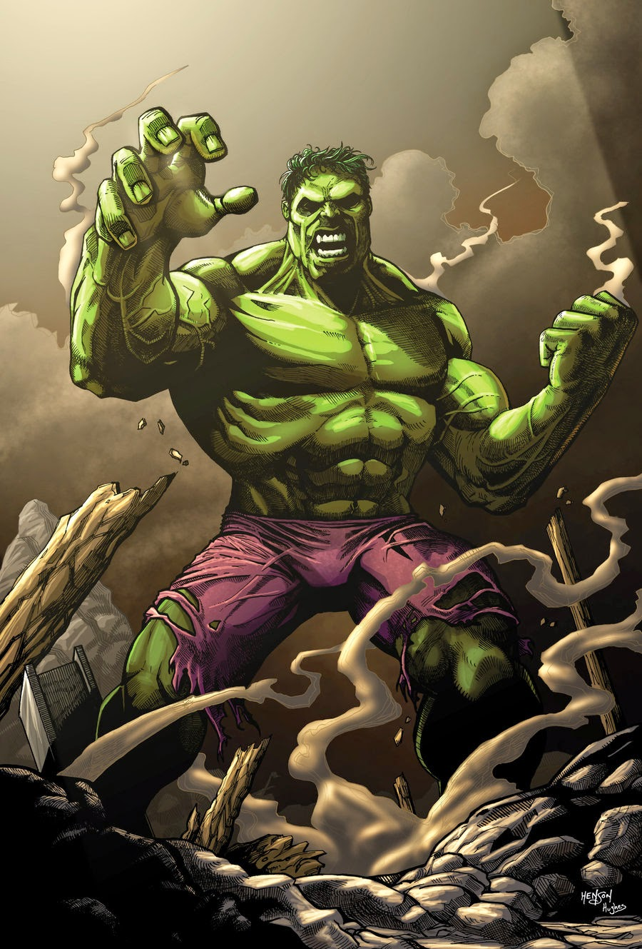 Marvel's The Hulk smashing