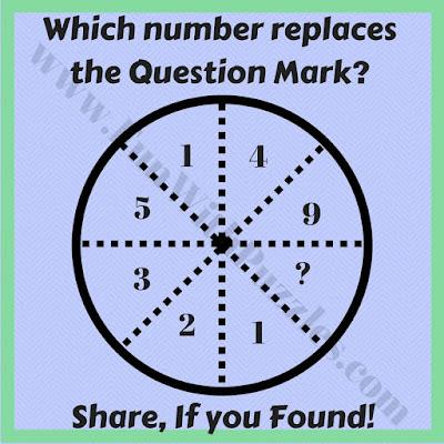 Quick Circle math picture puzzle question