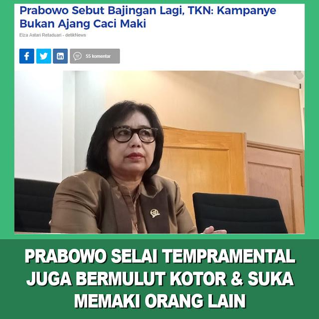 Prabowo Sebut Bajingan Lagi, TKN: Kampanye Bukan Ajang Caci Maki