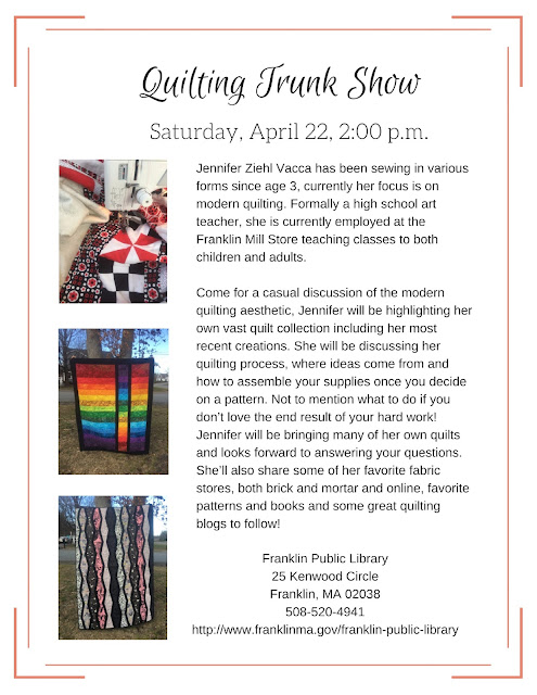 Franklin Library: Quilting Trunk Show - April 22 - 2:00 PM