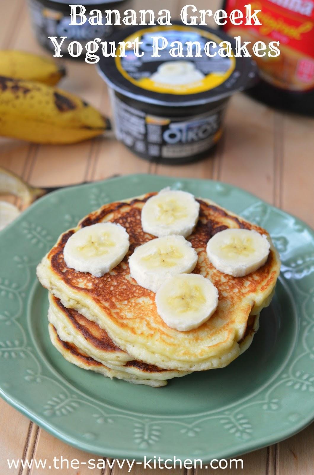 The Savvy Kitchen: Banana Greek Yogurt Pancakes