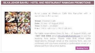 Checkers Cafe Silka Hotel Johor Bahru (Dorsett Johor Hotel)
