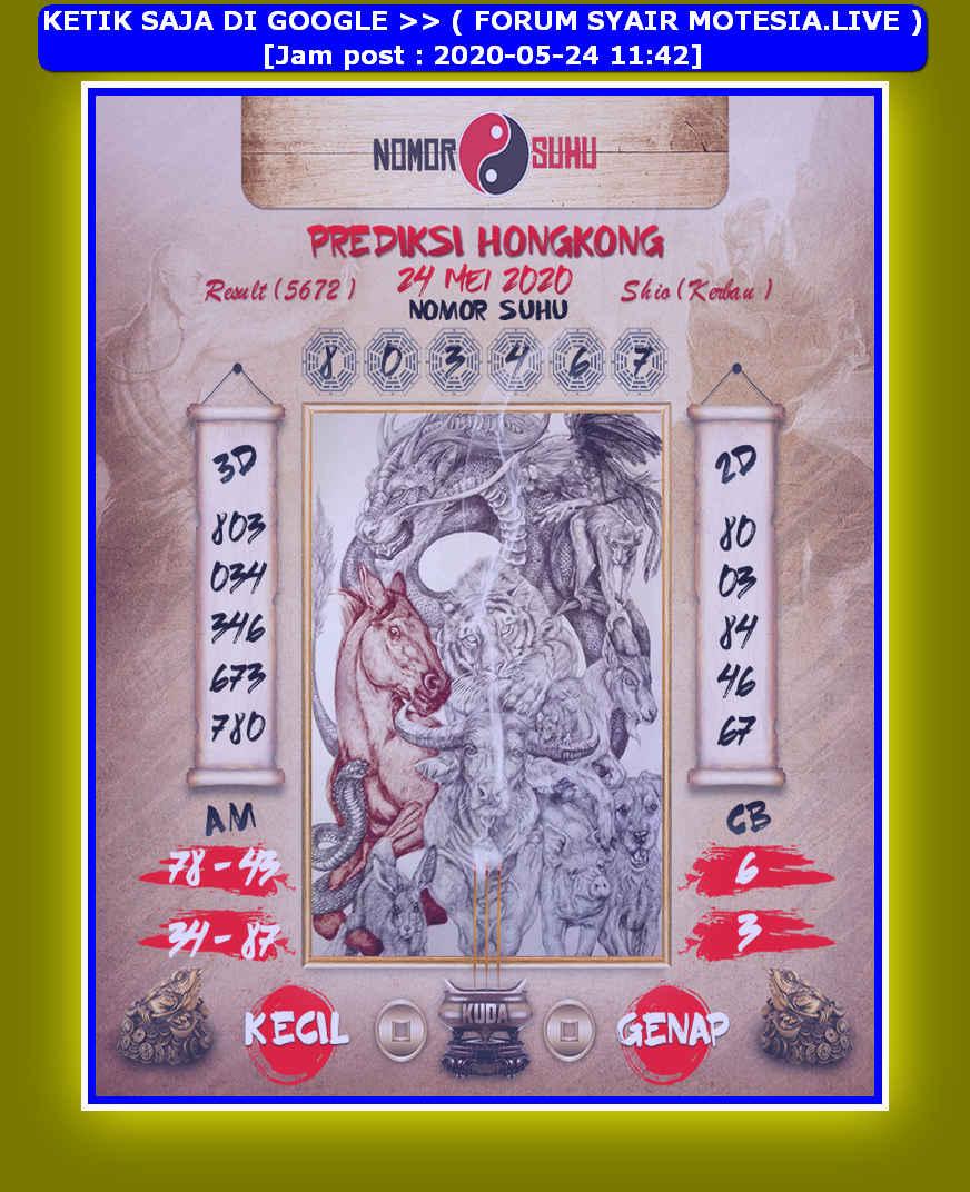 Kode syair Hongkong Minggu 24 Mei 2020 186