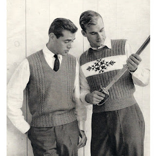 knitting pattern, mens sleeveless pullovers