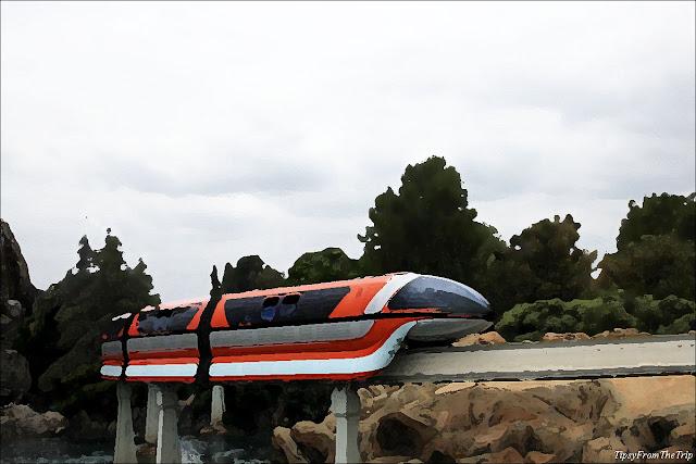 Monorail, Disneyland, California.