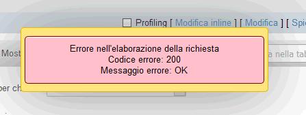 errore 200