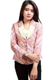 Desain Baju Batik Kerja Terbaru