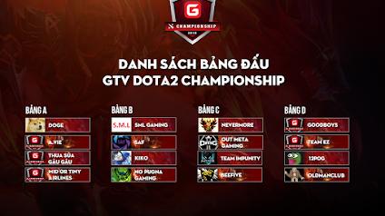 Công bố bảng đấu GTV Dota 2 Championship 2019