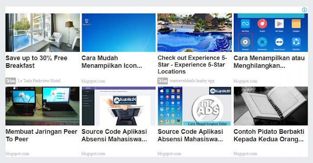 Cara Memasang Iklan Matched Content Google Adsense