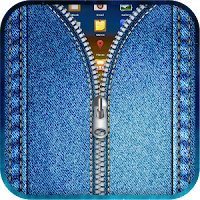 Jeans zipper lockscreen apk