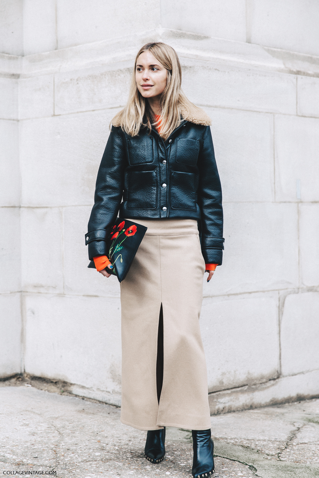 Pernille Teisbaek - Paris Fashion Week Street Style Collage Vintage