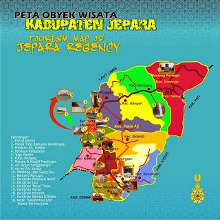 peta wisata jepara jawa tengah