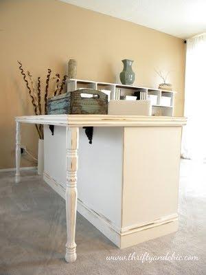 someday crafts dresser to desk transformation and ballard mirrors knock off. Black Bedroom Furniture Sets. Home Design Ideas