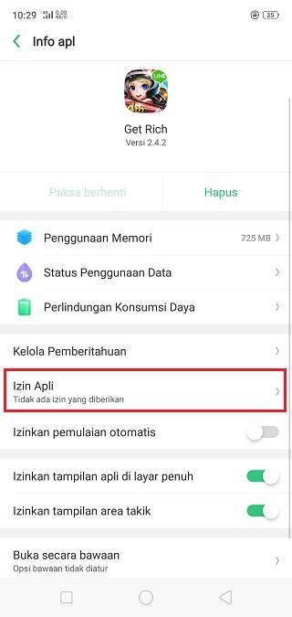 Izin Aplikasi