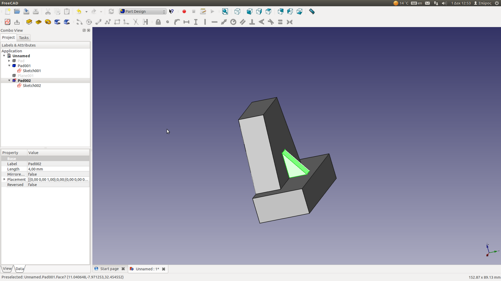 Linux Aided Design: Playing with FreeCAD: Trapezoids and Ribs