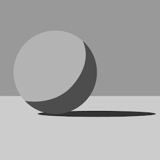 We can divide the sphere into two parts based on the light, the light side and shadow side.