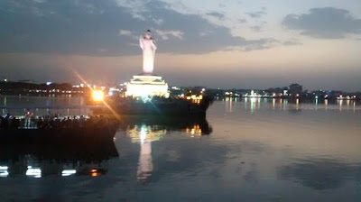 Buddha Statue at Hussain Sagar lake, Hyderabad