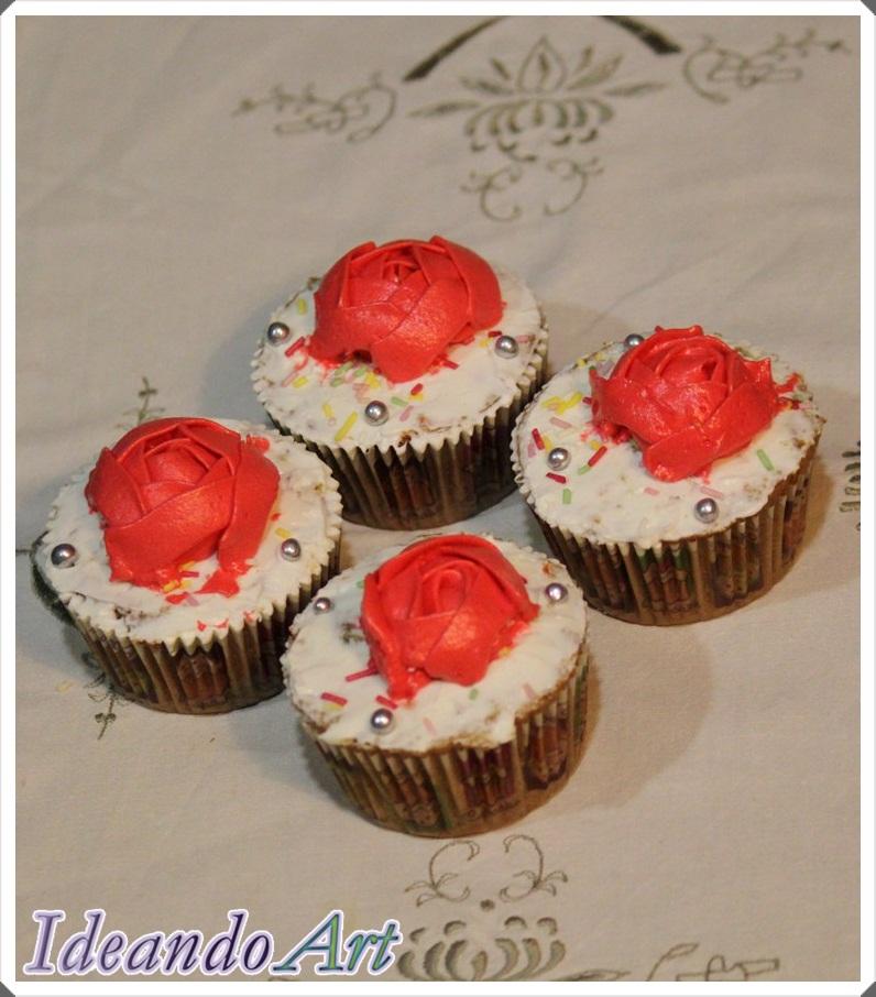 Cupcakes zanahoria decorados