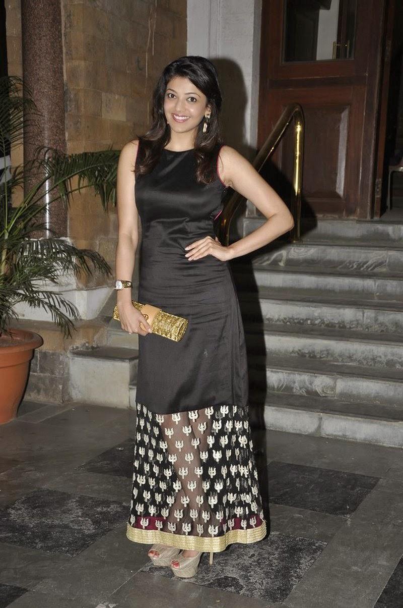 Kajal Agarwal Hot Cute Pics In Black Dress
