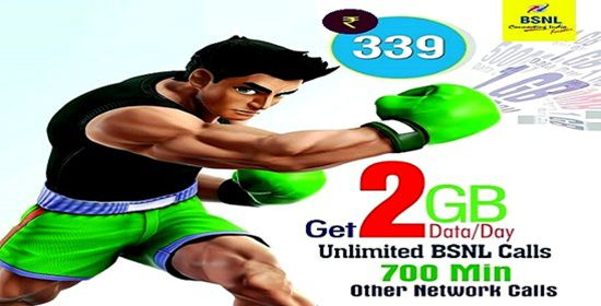 Unlimited Voice calls, 2GB per day free data offering Combo STV 339