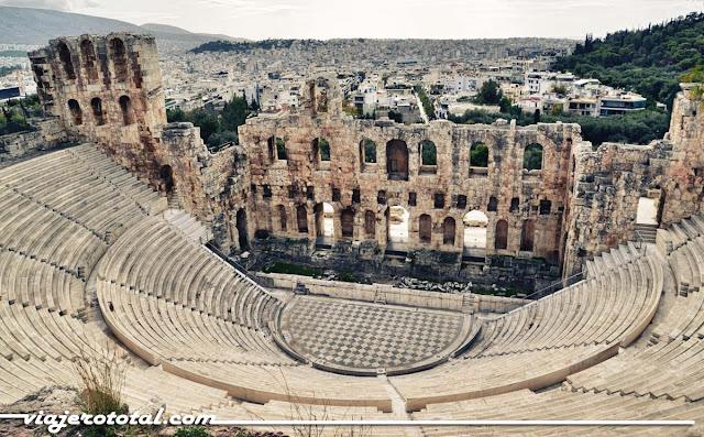 Atenas - Odeón de Herodes Ático, Acrópolis