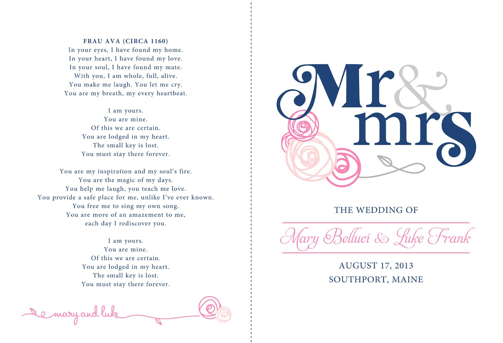 Signatures by Sarah: Wedding stationery for Mary