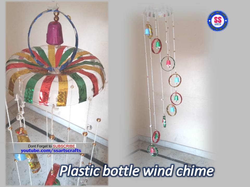 Plastic bottle spoons wind chime ssartscrafts for Room decor youtube channel