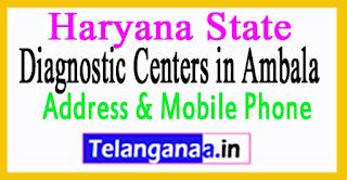 Diagnostic Centers in Ambala In Haryana