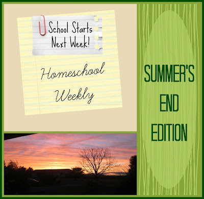 Homeschool Weekly - Summer's End Edition on Homeschool Coffee Break @ kympossibleblog.blogspot.com