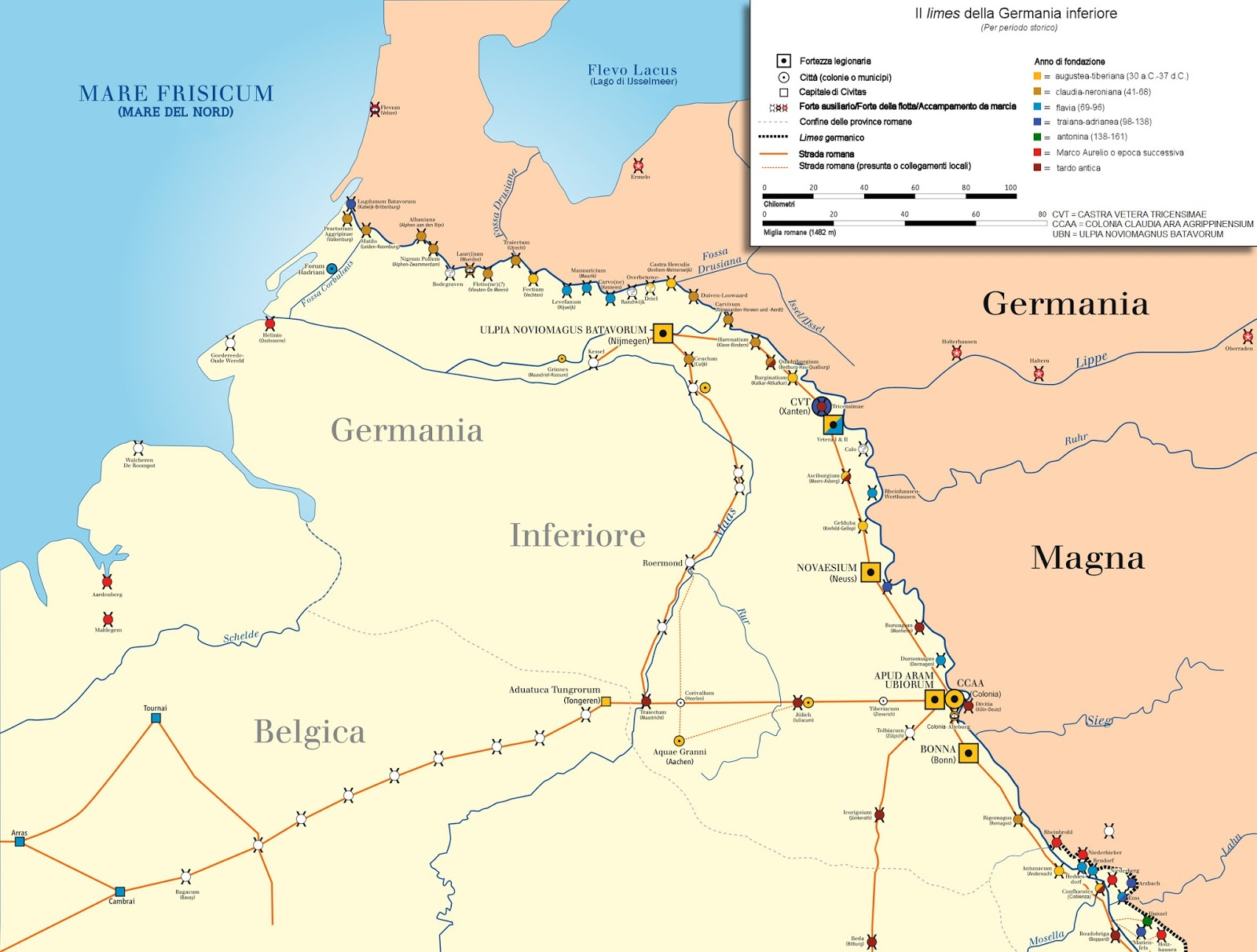 Fiume Elba Cartina Geografica.I Limes Dell Impero Romanoimpero Com