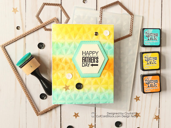 Embossed Background Father's Day Card