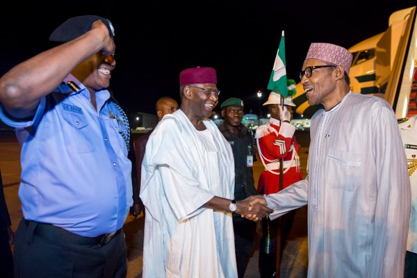Nigeria President Mohammed Buhari arrived Nigeria  from working visit to China